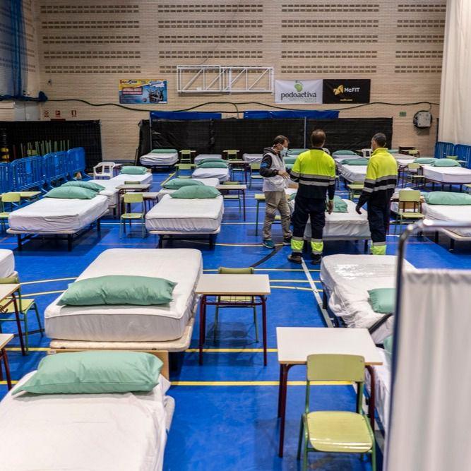 El hospital de campaña de Leganés recibe a sus 30 primeros pacientes