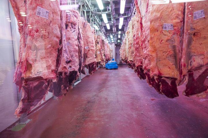 La sección de carne de Mercamadrid.