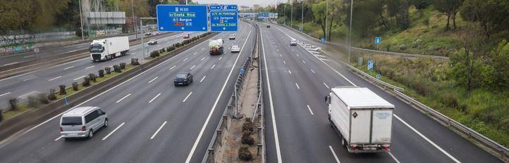 El tráfico se desploma en Madrid