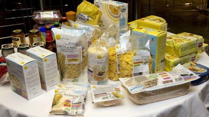 Bodegón de productos sin gluten marca Special Line.
