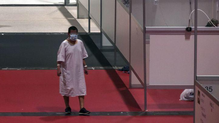 Enfermo en el Hospital de Ifema