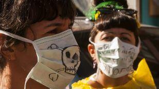 Imagen de archivo de la manifestación de vecinos contra el traslado de residuos a Valdemingómez.