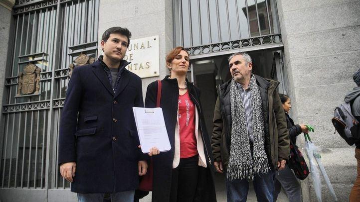 Los diputados de Más Madrid en la Asamblea Pablo Gómez Perpinyà, Mónica García y Eduardo Gutiérrez,