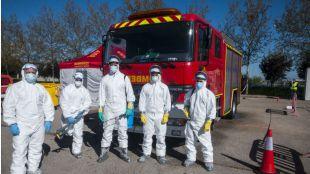 Bomberos crea una base para trabajos de descontaminación en el CIFSE