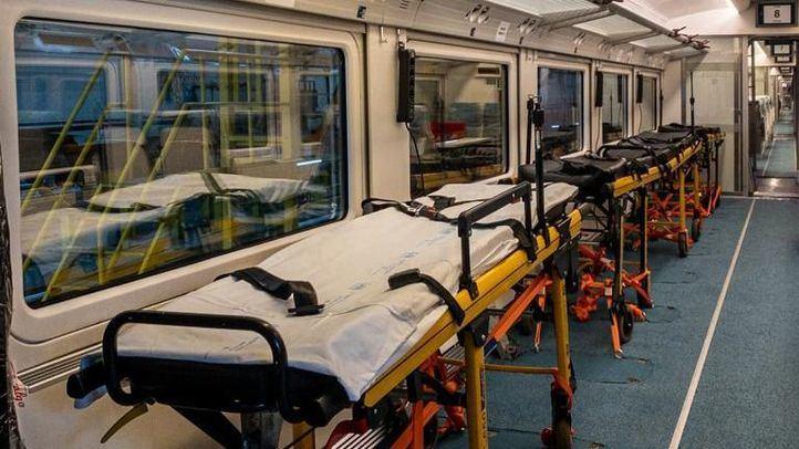 Interior de uno de los Talgo 730 de Renfe que podría ser utilizado como tren medicalizado.