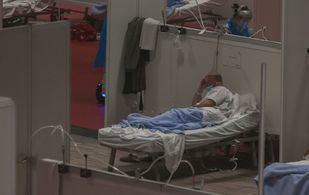 Un enfermo, en el hospital de Ifema