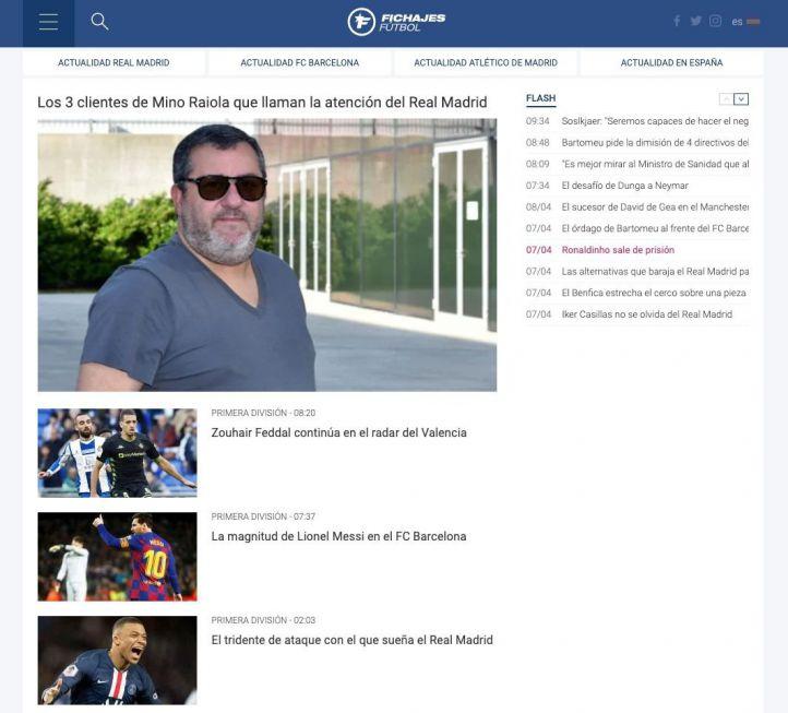 Una nueva página informará de todos los fichajes de fútbol en verano