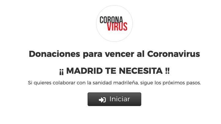 La web de donaciones de la Comunidad recibe más de 14 millones para luchar contra el COVID-19