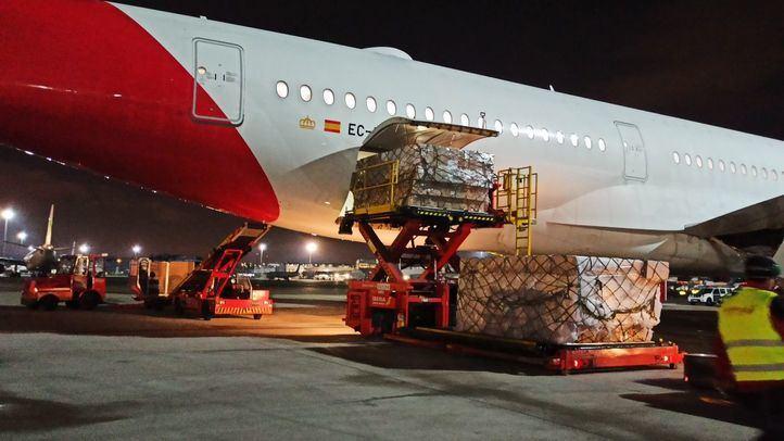 Sexto avión que aterrizó en España con material sanitario procedente de China