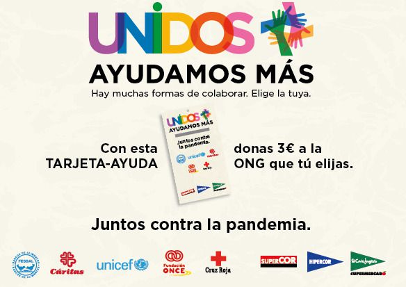 El Corte Inglés colabora con 5 ONG para lanzar tarjetas solidarias y paliar los efectos de la pandemia del coronavirus