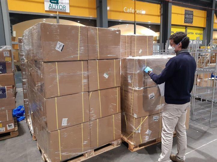 Madrid recibe material del Gobierno de España