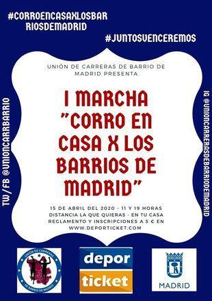 Madrid celebra este miércoles su primera carrera sin salir de casa