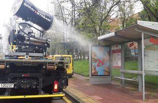 La capital contrata un camión con cañón nebulizador para desinfectar las calles