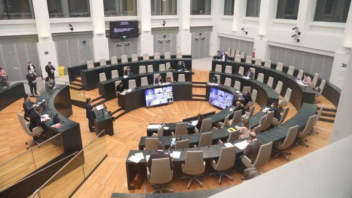 Pleno extraordinario del Ayuntamiento de Madrid para rendir cuentas de la gestión de la crisis del coronavirus.