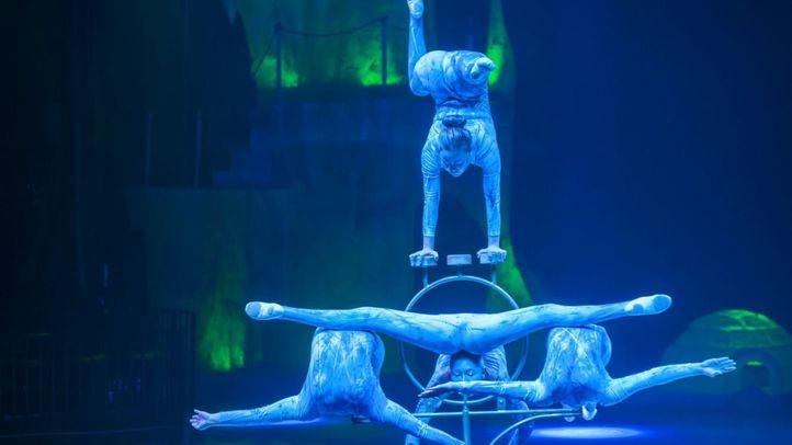 Espectáculo circense, en una foto de archivo
