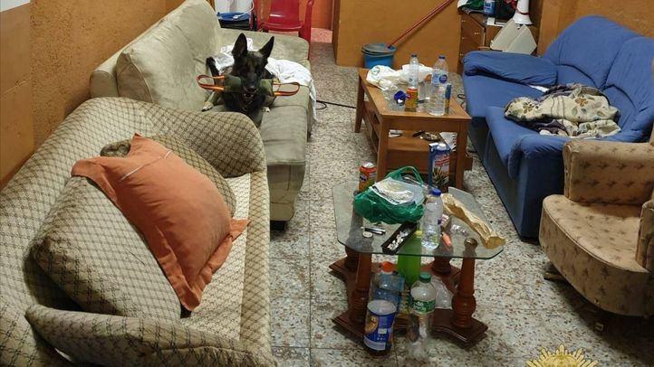 Desmantelado un fumadero de drogas en un local alquilado en Getafe