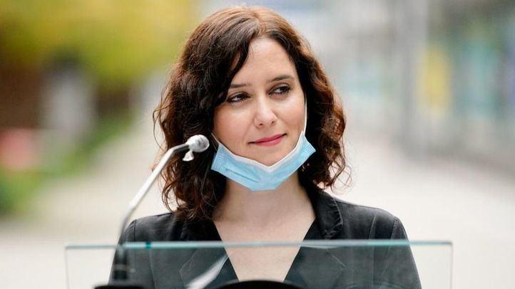 Isabel Díaz Ayuso en su visita al Hospital de Ifema