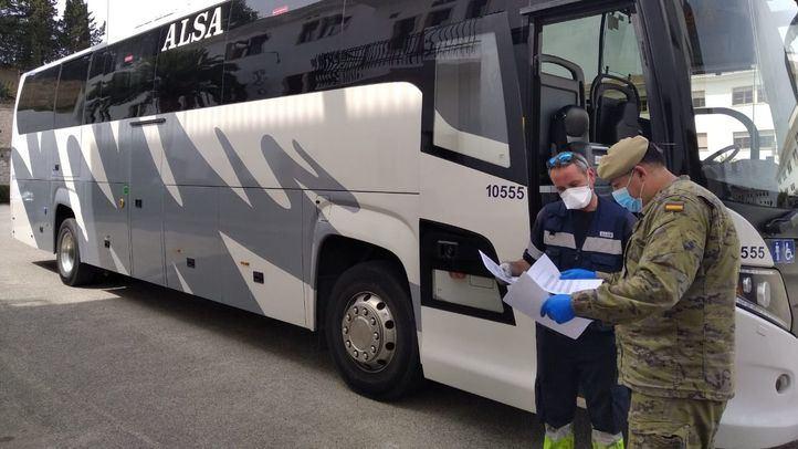 ALSA pone a disposición del Ejército de Tierra 26 autobuses