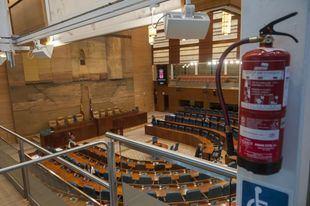 Pleno telemático fallido en la Asamblea de Madrid