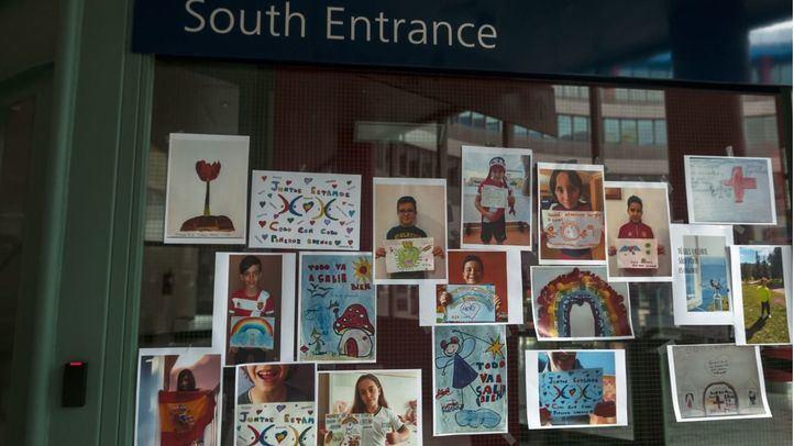 Los niños continúan haciendo llegar su apoyo a través de dibujos