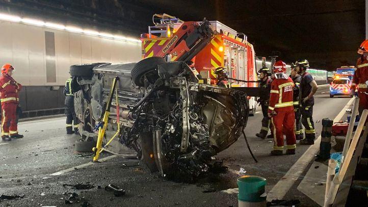 Un hombre, rescatado por los bomberos tras sufrir un accidente en la M-30