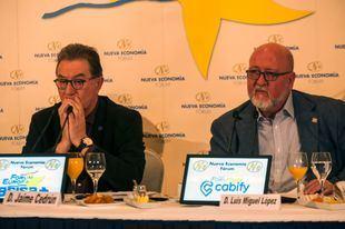 Desayuno Fórum Europa CC.OO. y UGT de Madrid, Jaime Cedrún y Luis Miguel López Reillo