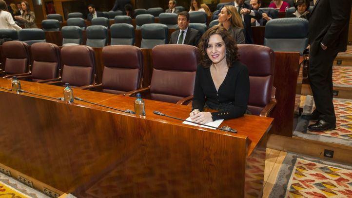 La mandataria regional, Isabel Díaz Ayuso, comparecerá en un Pleno monográfico en la Asamblea