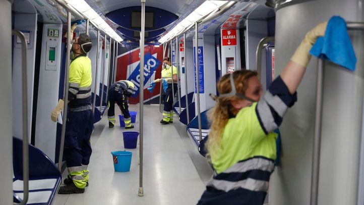 Un centenar de trabajadores de Metro están contagiados por coronavirus
