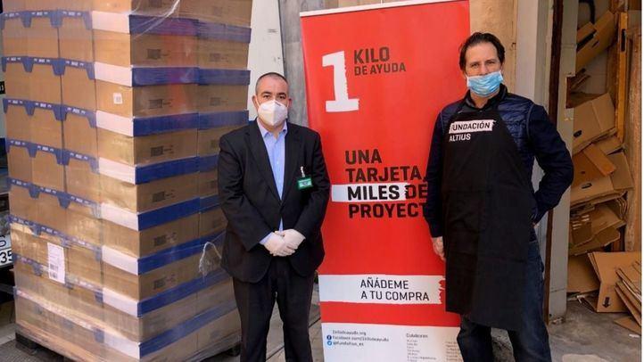 Mercadona dona a la Fundación Altius -1 Kilo de Ayuda 3'9 toneladas de alimentos de primera necesidad