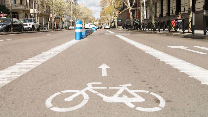 Carril bici de la calle Sagasta.