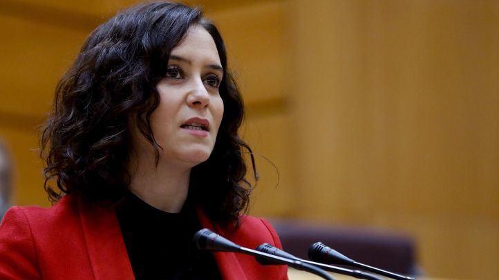 Ayuso pide una mesa bilateral con el Gobierno para pactar una desescalada que evite la 'ruina' de Madrid