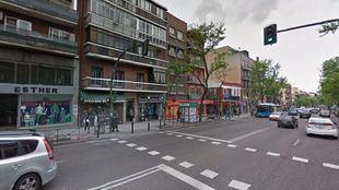 Avenida de la Albufera, lugar donde ha fallecido el hombre de 70 años
