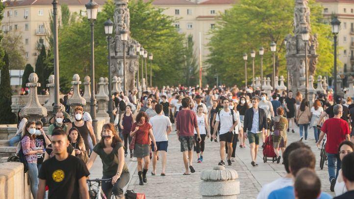 Aglomeraciones en Madrid durante el primer fin de semana de desescalada