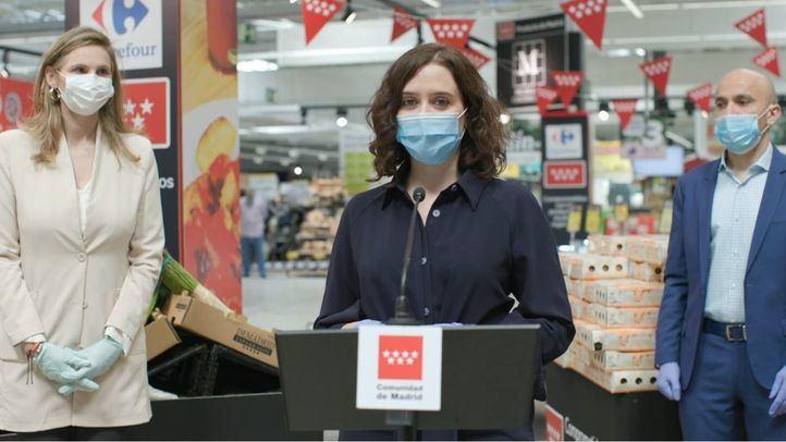 Ayuso anuncia una campaña para promover el consumo de alimentos locales en apoyo al sector