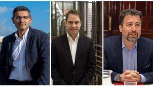 Rafael Sánchez Acera, Ignacio Vázquez y Pedro del Cura.