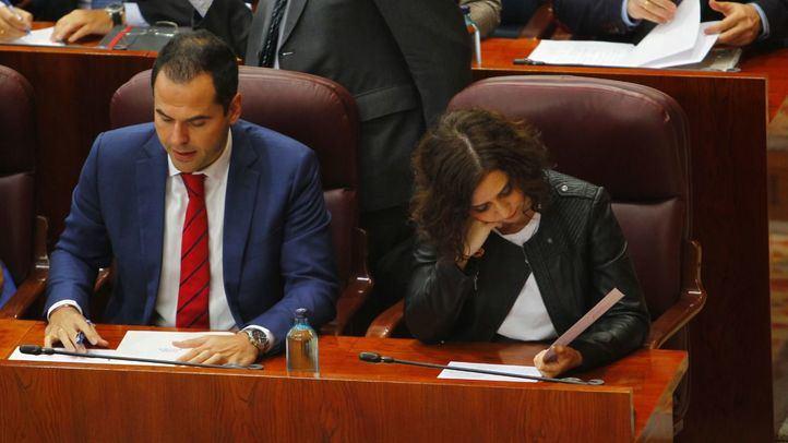 Ayuso y Aguado discrepan sobre el paso de Madrid a la fase 1 de la desescalada