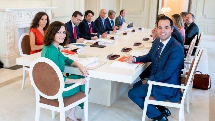 Isabel Díaz Ayuso en un Consejo de Gobierno antes de la crisis del coronavirus.