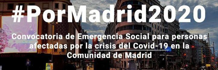 Fundación Montemadrid, Cámara de Comercio y UAX lanzan la convocatoria de Emergencia Social #PorMadrid2020