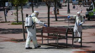 Así desinfecta Madrid las calles para evitar la propagación del coronavirus