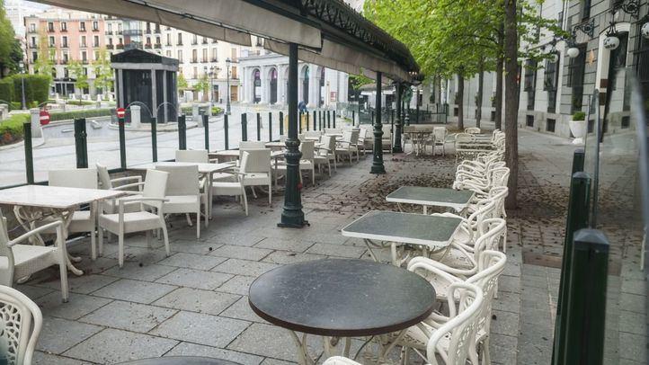 Terraza en la Plaza de Oriente