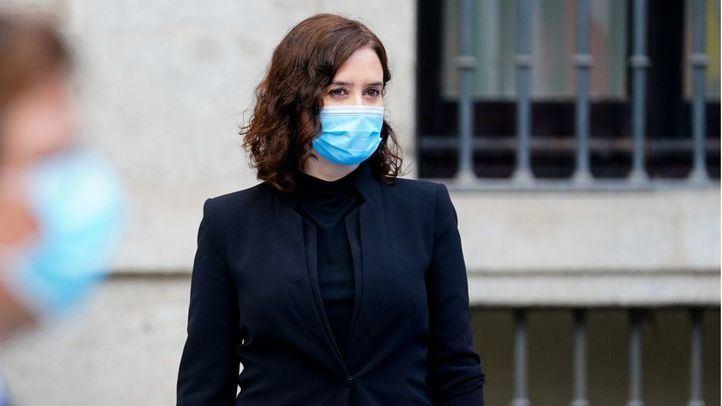 Isabel Díaz Ayuso durante la celebración del Día de Europa