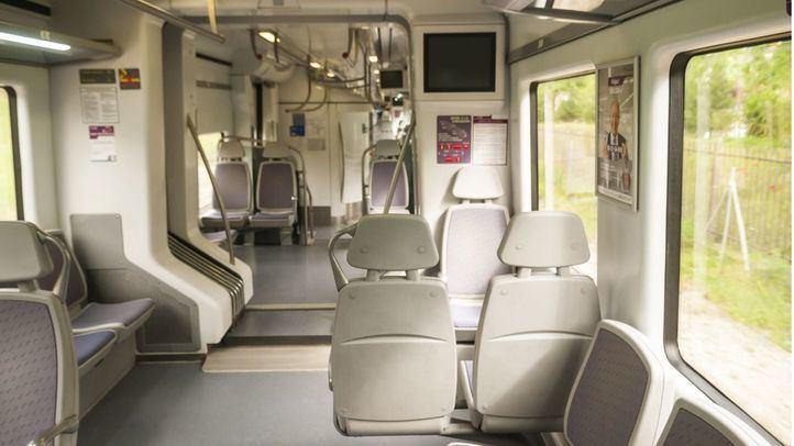Tren de Cercanías vacío