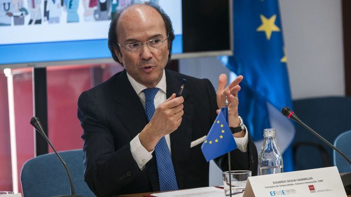 El consejero de Universidades, Ciencia e Innovación de la Comunidad de Madrid, Eduardo Sicilia.
