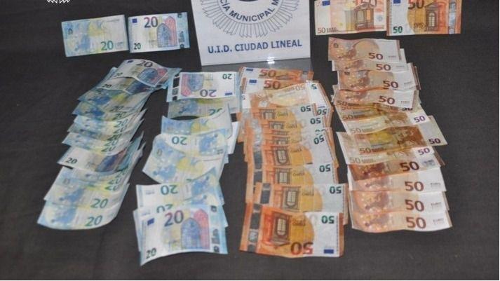 Dinero falso incautado
