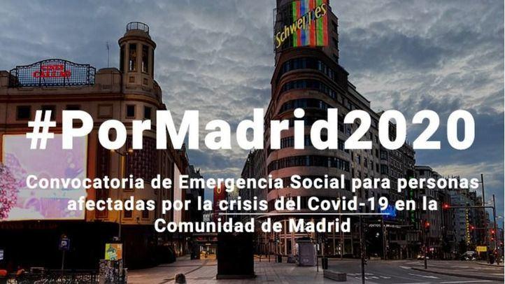 #PorMadrid2020 abre el plazo de presentación de proyectos de atención social el 20 de mayo