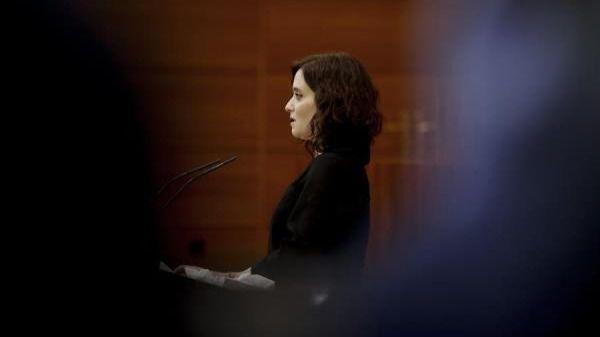 Isabel Díaz Ayuso durante el Pleno especial de la Asamblea por la crisis sanitaria del Covid-19 (Imagen de archivo)