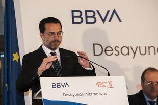 Javier Fernandez-Lasquetty, Consejero de Hacienda de la Comunidad de Madrid, en una conferencia.