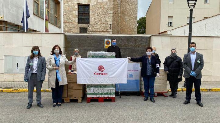 Mercadona dona 5.000 productos de primera necesidad a Cáritas de Villarejo de Salvanés y San Martín de la Vega