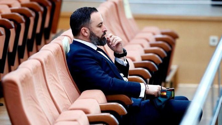 Santiago Abascal en la Asamblea de Madrid.