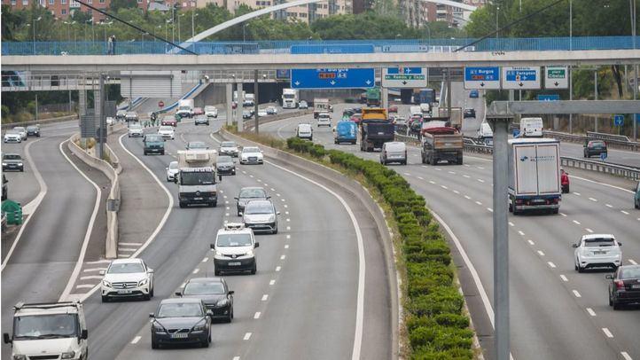 Tráfico en Madrid durante el estado de alarma